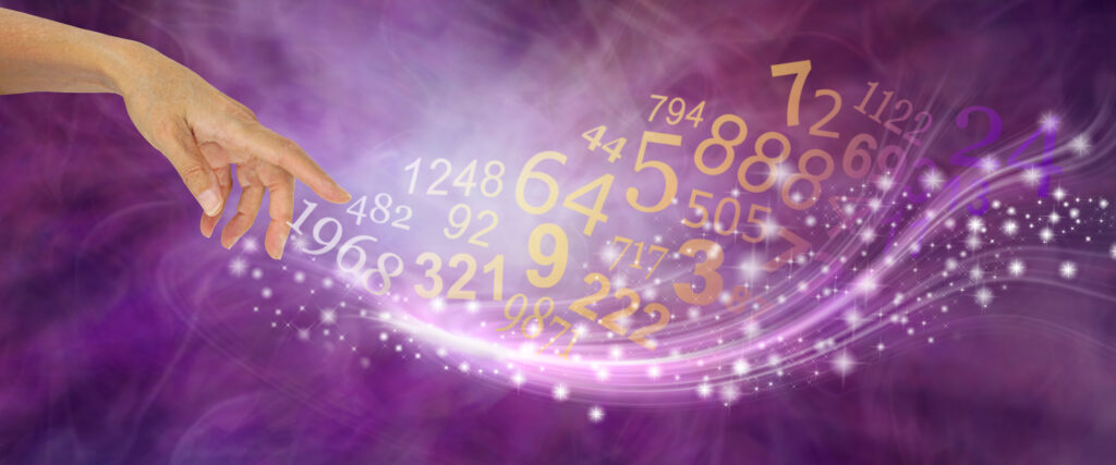 Numerologi illustration af tal